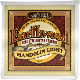 Ernie Ball Earthwood 2067 Mandolin Light Loop End Guitar Strings 9-34 Gauge