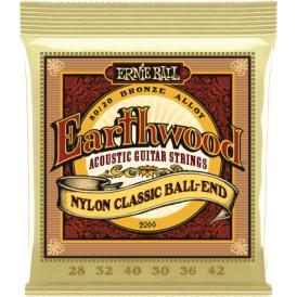 Earthwood 2069 80/20 Bronze Folk Acoustic Guitar Strings 28-42 Nylon Ball End