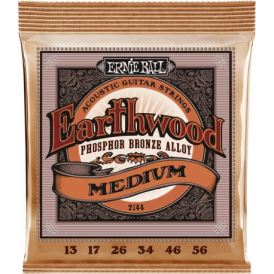 Ernie Ball Earthwood 2144 Acoustic Phosphor Bronze Acoustic Guitar Strings 13-56 Medium Gauge