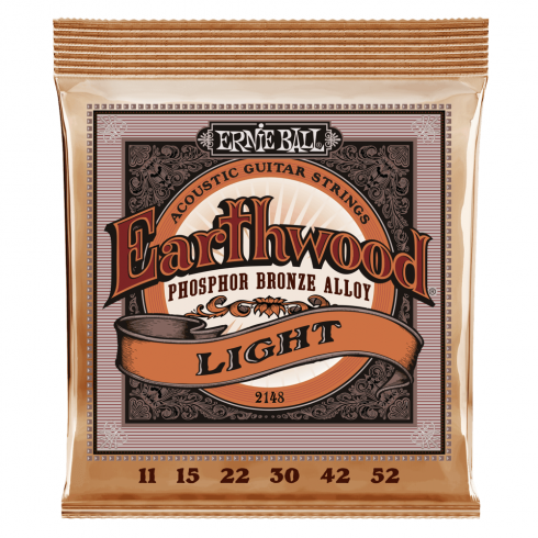 Ernie Ball Earthwood 2148 Phosphor Bronze Alloy Acoustic Guitar Strings 11-52 Gauge