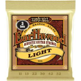 Earthwood 3004 80/20 Bronze Acoustic Guitar Strings 11-52 Light 3-Pack