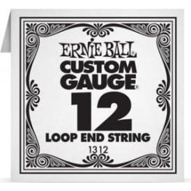Ernie Ball 1312 Plain Steel Loop End Single String .012