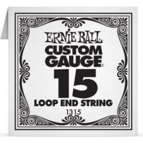 Ernie Ball 1315 Plain Steel Loop End Single String .015