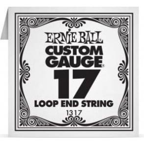 Ernie Ball 1317 Plain Steel Loop End Single String .017