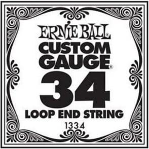 Ernie Ball 1334 Nickel Wound Loop End Single String .034