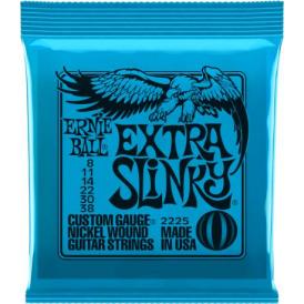 Ernie Ball Extra Slinky 2225 Nickel Guitar Strings 8-38