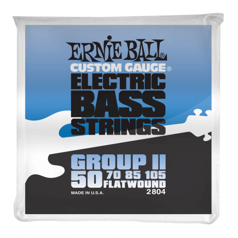 Ernie Ball Group II Stainless Steel 50-105 Flatwound Bass Guitar Strings