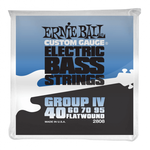 Ernie Ball Group IV Stainless Steel 40-95 Flatwound Bass Guitar Strings