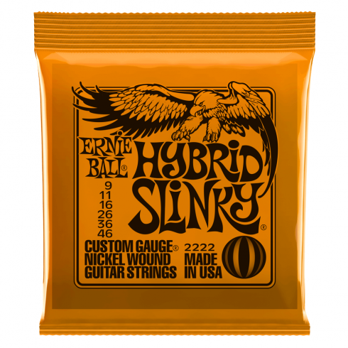 Ernie Ball Hybrid Slinky 2222 Nickel Guitar Strings 9-46