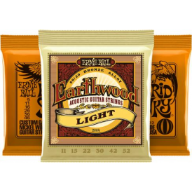 Ernie Ball Hybrid Slinky 9-46 Electric and Earthwood Acoustic Player Pack