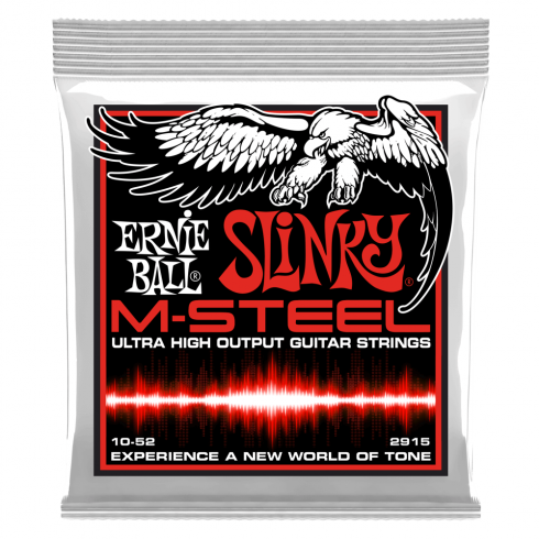 Ernie Ball M-STEEL Skinny Top Heavy Bottom Slinky 10-52, Electric Guitar Strings