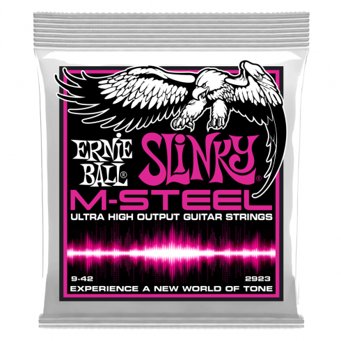 Ernie Ball M-STEEL Super Slinky 9-42, Electric Guitar Strings