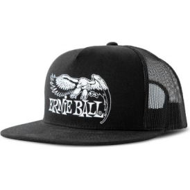 Ernie Ball Official Black and White Eagle Logo Hat
