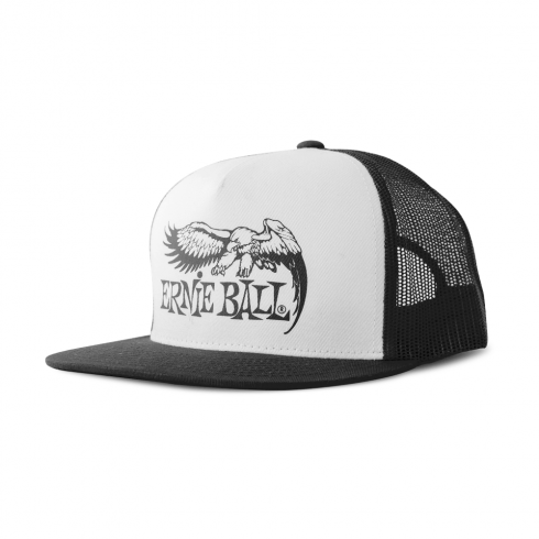 Ernie Ball Official Black with Front Black Eagle Logo Hat