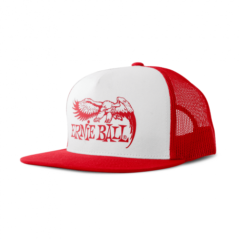 Ernie Ball Official Red with Front Black Eagle Logo Hat