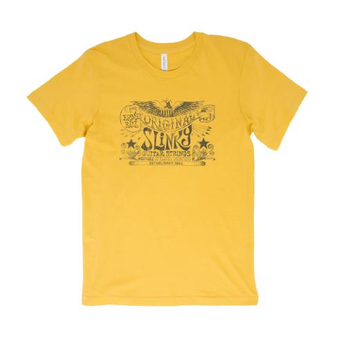 Ernie Ball Original Slinky Logo T-Shirt, Maize Yellow