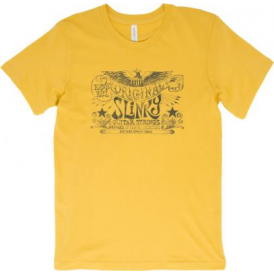 Ernie Ball Original Slinky Logo T-Shirt, Maize Yellow