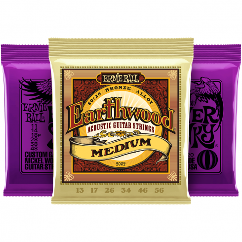 Ernie Ball Power Slinky 11-48 Electric and Earthwood Acoustic Player Pack