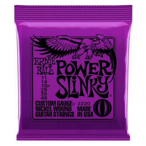 Ernie Ball Power Slinky 2220 Nickel Guitar Strings 11-48