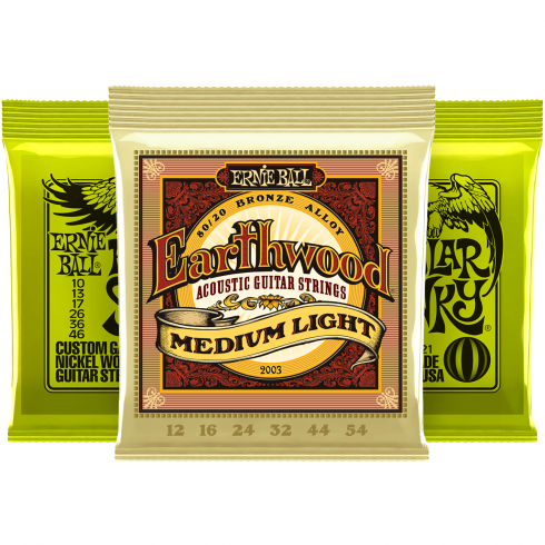 Ernie Ball Regular Slinky 10-46 Electric and Earthwood Acoustic Player Pack