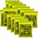 Ernie Ball Regular Slinky 2221-12 Nickel Guitar Strings 10-46, 12-PACK Bulk Buy Bundle