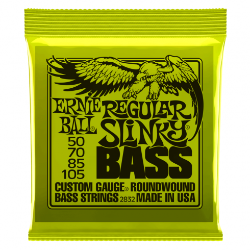 Ernie Ball Regular Slinky 50-105 Nickel Wound Electric Bass Strings