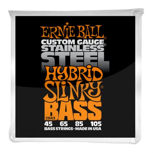 Ernie Ball Stainless Steel Hybrid Slinky 45-105 Bass Guitar Strings