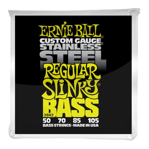 Ernie Ball Stainless Steel Regular Slinky 50-105 Bass Guitar Strings