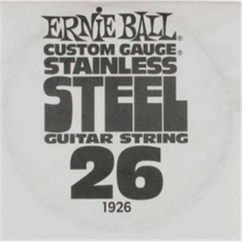 Ernie Ball Stainless Steel Single String .026 Gauge