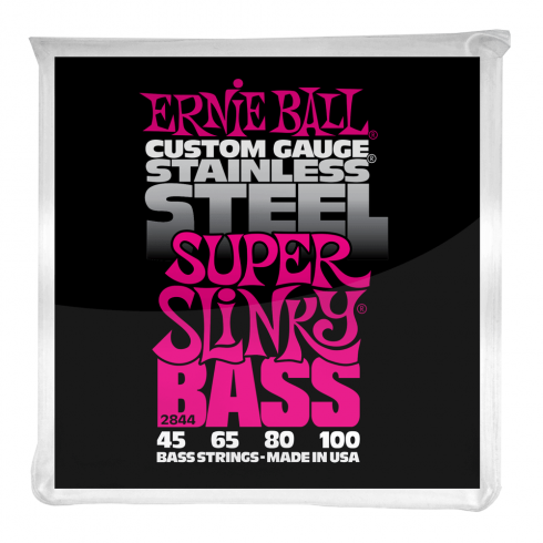 Ernie Ball Stainless Steel Super Slinky 45-100 Bass Guitar Strings