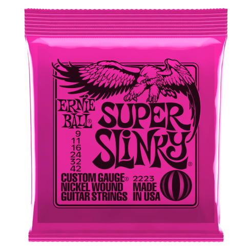 Ernie Ball Super Slinky 2223 Nickel Guitar Strings 9-42