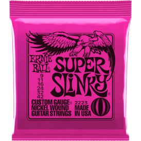 Ernie Ball Super Slinky 2223 Nickel Guitar Strings 9-42