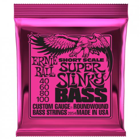 Ernie Ball Super Slinky 40-100 Short Scale Nickel Wound Bass Strings