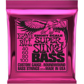 Ernie Ball Super Slinky 40-100 Short Scale Nickel Wound Bass Strings