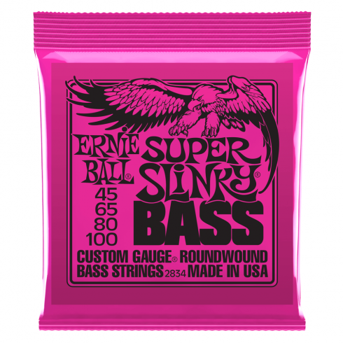 Ernie Ball Super Slinky 45-100 Nickel Wound Electric Bass Strings