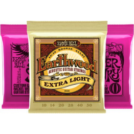 Ernie Ball Super Slinky 9-42 Electric and Earthwood Acoustic Player Pack