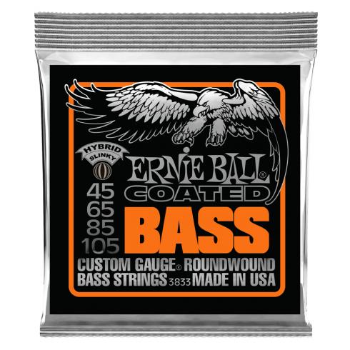 Ernie Ball Titanium Reinforced Hybrid Slinky 45-105 Coated Bass Guitar Strings