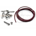 Evidence Audio Burgundy Monorail Patch Cable Kit, 5ft with 8x SIS Solderless Right Angle Plugs