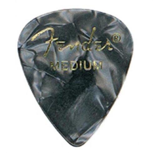 Fender 351 Classic Celluloid Picks 12-Pack (Black Moto) Heavy