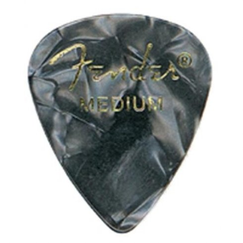 Fender 351 Classic Celluloid Picks 12-Pack (Black Moto) Medium