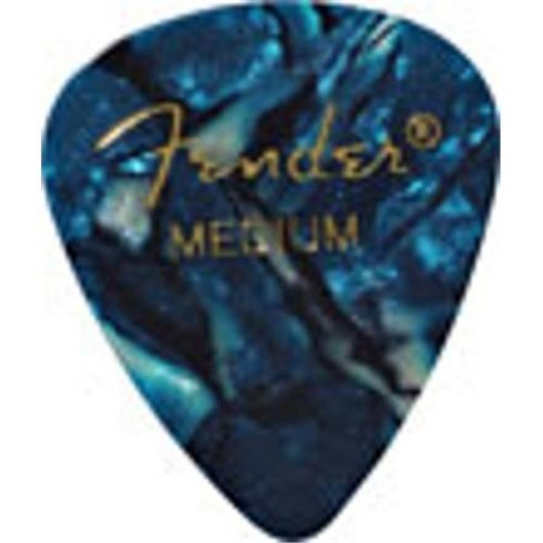Fender 351 Classic Celluloid Picks 12-Pack (Ocean Turq) Heavy