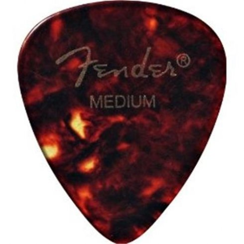 Fender 351 Classic Celluloid Picks 12-Pack Tortoise Shell Medium