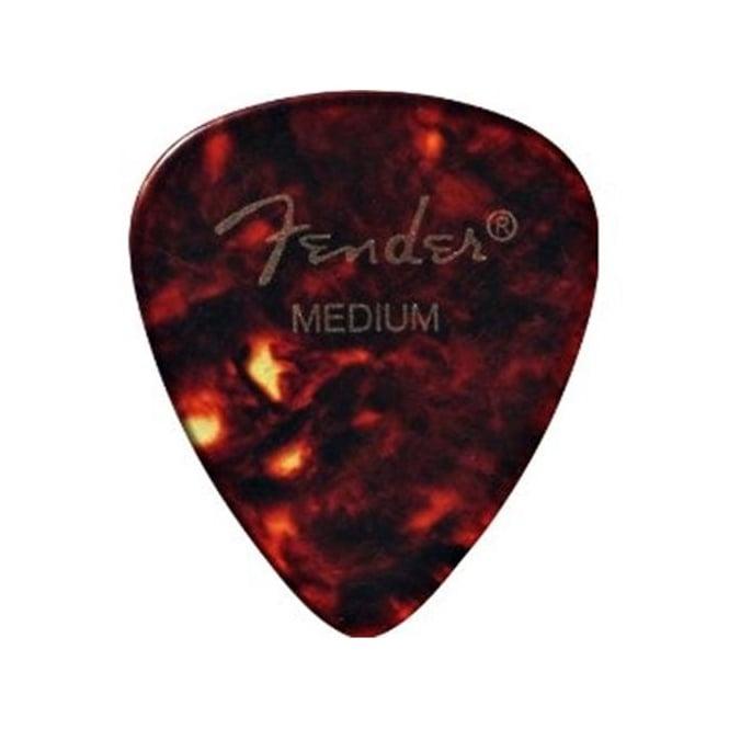 Fender 351 Classic Celluloid Shell Picks 12-Pack, Medium