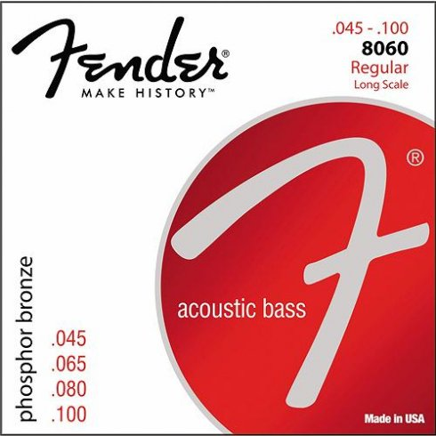 Fender 8060 Phosphor Bronze Acoustic Bass Guitar Strings 45-100 Long Scale