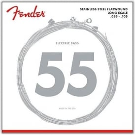 Fender 9050M 4-String Stainless Steel Flatwound Bass Guitar Strings 55-105 Long Scale