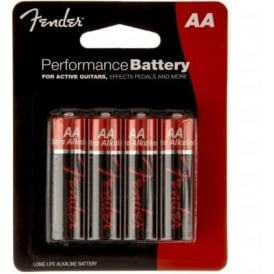 Fender AA Battery 4-Pack for Guitar Pedals & Pickup Systems