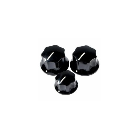 Fender American Pure Vintage 60's Jazz Bass Black Knobs Set