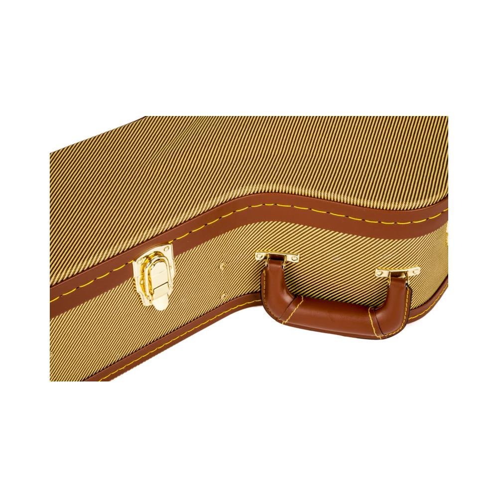fender jumbo acoustic arched top tweed hard case. Black Bedroom Furniture Sets. Home Design Ideas