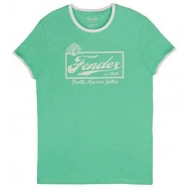 Fender Beer Label Surf T-Shirt, Green