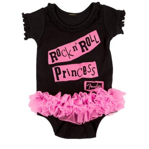 Fender Black & Pink Princess Baby Grow - 18 months